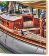 Old Wooden Sailboat Wood Print