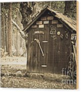 Old Wooden Shed Yosemite Wood Print