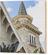 Old Wooden Victorian Chapel Church Steeple Fine Art Landscape Photography Print Wood Print