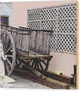 Old Wooden Wagon Wood Print by Marilyn Hunt