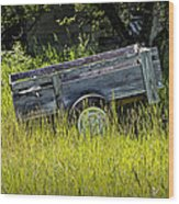 Old Wooden Wagon Wood Print