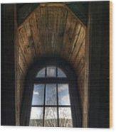 Old Wooden Window Wood Print