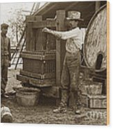 Old  Wooden Wine Press Circa 1910 Wood Print