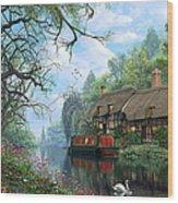 Old Woodland Cottage Wood Print
