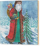 Old World Father Christmas4 Wood Print by Barbel Amos