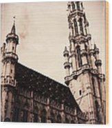 Old World Grand Place Wood Print