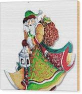 Old World Santa Christmas Art Original Painting By Megan Duncanson Wood Print