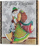 Old World Santa Clause Christmas Art Original Painting By Megan Duncanson Wood Print