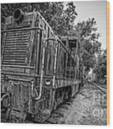 Old Yard Switcher Engine Valley Railroad Wood Print