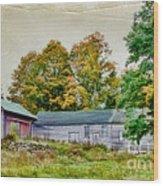 Olde Homestead On Rt 105 Wood Print