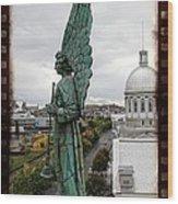 Olde Montreal Angel Wood Print