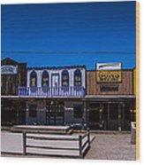 Olde Strip Mall Wood Print