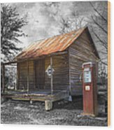 Olden Days Wood Print by Debra and Dave Vanderlaan