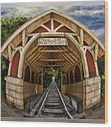 Oldest Steamtrain Station San Francisco Wood Print