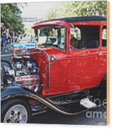Oldie But Goodie - Classic Antique Car Wood Print