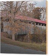Oldtown Covered Bridge Wood Print