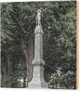 Ole Miss Confederate Statue Wood Print