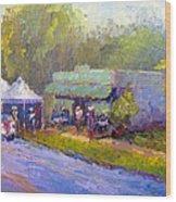 Olive Market Festival Wood Print