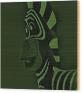 Olive Zebra Wood Print