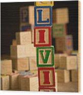 Olivia - Alphabet Blocks Wood Print