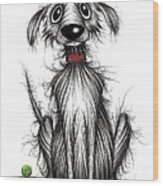 Ollie The Dog Wood Print