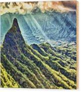 Olomana And The Koolau Range Wood Print