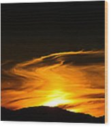 Olympic Mountain Sunset Photography Wood Print