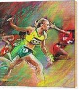 Olympics 100 Metres Hurdles Sally Pearson Wood Print