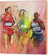 Olympics 10000m Run 01 Wood Print