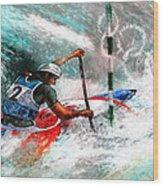 Olympics Canoe Slalom 02 Wood Print by Miki De Goodaboom
