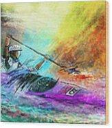 Olympics Canoe Slalom 03 Wood Print