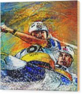 Olympics Canoe Slalom 04 Wood Print by Miki De Goodaboom