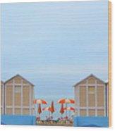 Ombrelloni Wood Print