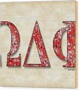 Omega Delta Phi - Parchment Wood Print