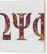 Omega Psi Phi - White Wood Print