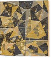 Omg Modern Triangles II Wood Print