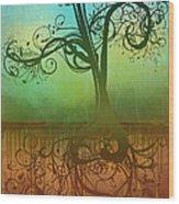 Omid Wood Print by Ryan Burton