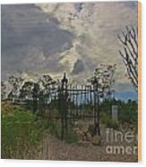 Ominous Boothill Cemetery Wood Print