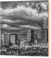 Ominous Charlotte Sky Wood Print