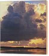 Ominous Cloud At Sunset Wood Print