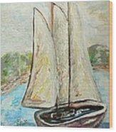On A Cloudy Day - Impressionist Art Wood Print