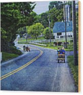 On A Country Road - Lancaster - Pennsylvania Wood Print