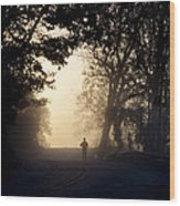 On A Morning Jog Wood Print