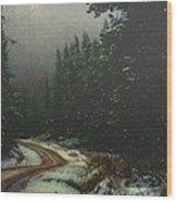 On A Snowy Evening Wood Print