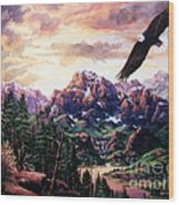 On A Wing And A Prayer Wood Print by W  Scott Fenton