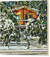 On A Winter Day Wood Print
