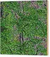 On Black Velvet Wood Print