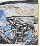 On Board Colin Mcrae Wood Print