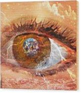 On Earth As It Is In Heaven Wood Print