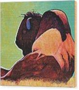 On Empty Bison Wood Print